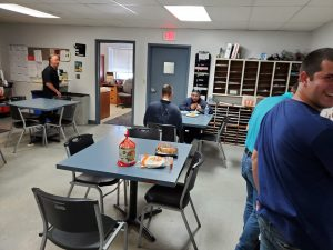 Lunch time at Delta Tech Service